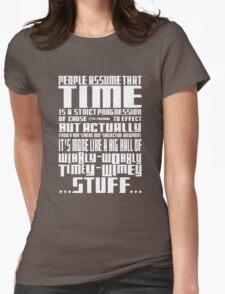 Timey Wimey Stuff Womens Fitted T-Shirt