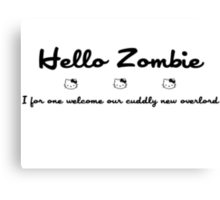 Hello Kitty Zombie - Black Canvas Print