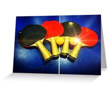Lens Flare Pingpong Balls Bats Table Tennis Paddles Rackets Greeting Card