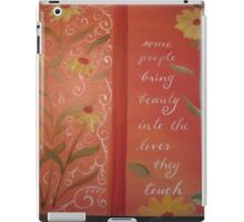 Inspirational handwritten quote colorful calligraphy iPad Case/Skin