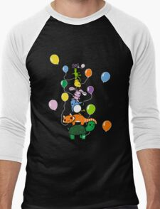 Tortoise Tower Men's Baseball ¾ T-Shirt
