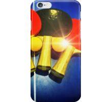 Lens Flare Pingpong Balls Bats Table Tennis Paddles Rackets iPhone Case/Skin