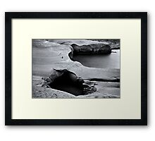 Nature is a sculptor (moonscape) Framed Print