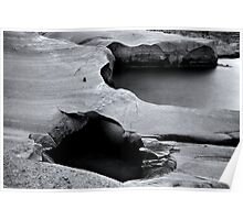 Nature is a sculptor (moonscape) Poster
