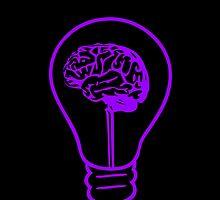 An Idea - Purple on Black by Sinder Singh