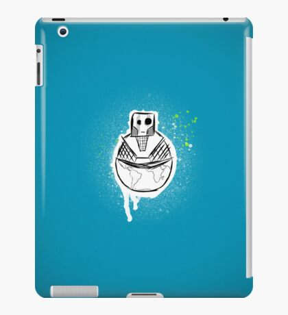 The fat robot who ate the earth iPad Case/Skin