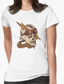 Old Timey Tattoo Design Womens Fitted T-Shirt