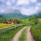 A Village beneath the Alps by LeonD