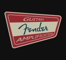 Fender Vintage Sign decoration Clothing & Stickers by goodmusic