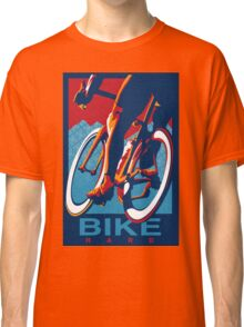 Retro styled motivational cycling poster: Bike Hard Classic T-Shirt