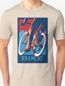 Retro styled motivational cycling poster: Bike Hard T-Shirt
