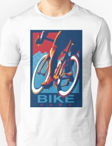 Retro styled motivational cycling poster: Bike Hard Unisex T-Shirt
