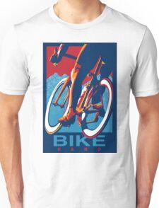 Retro styled motivational cycling poster: Bike Hard Unisex T-Shirt