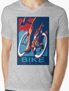 Retro styled motivational cycling poster: Bike Hard Mens V-Neck T-Shirt