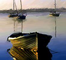A Dory at Dusk by LeonD