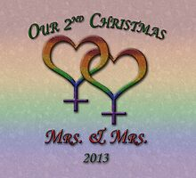 Mrs. and  Mrs. - Lesbian Pride - Second Christmas by LiveLoudGraphic