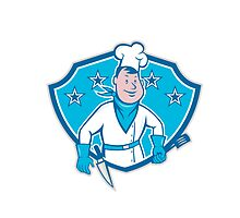 Chef Cook Star Shield by patrimonio