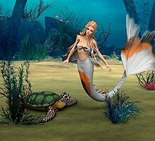 Mermaid und Turtle by Vac1