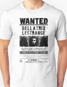 Bellatrix Lestrange WANTED T shirt Unisex T-Shirt