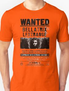 Bellatrix Lestrange WANTED T shirt Unisex T-Shirt