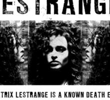 Bellatrix Lestrange WANTED T shirt Sticker