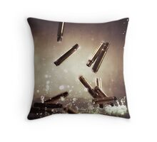 Bullet time Throw Pillow