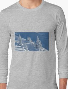 Frozen Winter Scene Long Sleeve T-Shirt