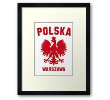 POLSKA WARSZAWA Framed Print