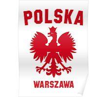 POLSKA WARSZAWA Poster