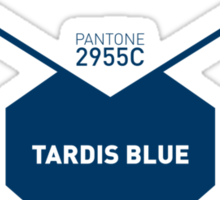Official Tardis Blue - Pantone 2955C Sticker