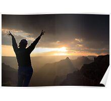 Sunset at the Grand Canyon, Arizona, USA Poster