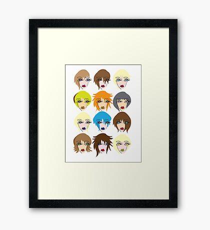Twelve ladies of fashion Framed Print