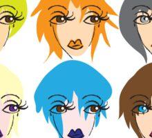 Twelve ladies of fashion Sticker