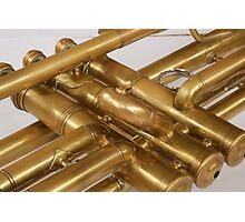 Brass Trumpet Valves and Tubes Photographic Print