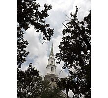Steeple Canopy Artistic Photograph by Shannon Sears Photographic Print