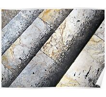 Abstract in marble, Siena, Italy Poster