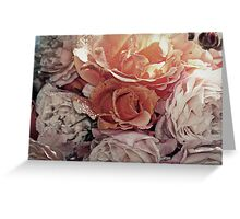 """""""Bouquet of Apricots & Cream"""" Greeting Card"""