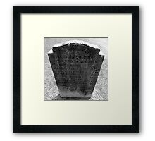 Colonist Memories Artistic Photograph by Shannon Sears Framed Print