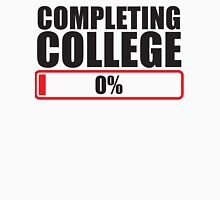 Completing College 0 per cent % progress bar Unisex T-Shirt