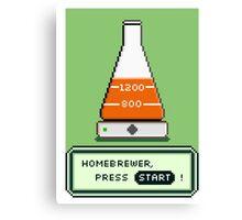 Homebrew Yeast Starter, Press START! Canvas Print