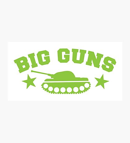 BIG GUNS with military tank weapon Photographic Print