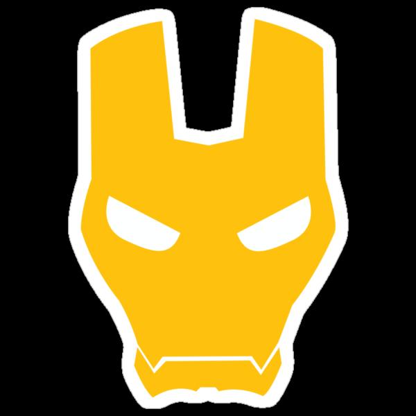 Iron Man Face Logo Iron man face mask by az