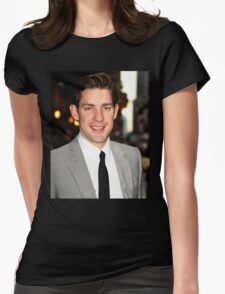 John Krasinski being cute  Womens Fitted T-Shirt