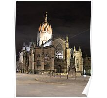 St Giles By Night Poster