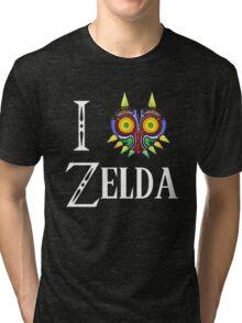 Love Zelda Majoras Mask Tri-blend T-Shirt