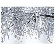 Frozen Branches Winter Theme Poster