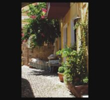 Traditional Greek Courtyard In Rhodes Old Town Kids Tee