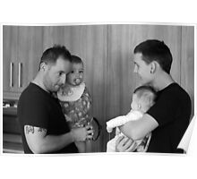 Dads and Babies Poster