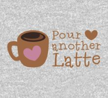 POUR another Latte with coffee cup and heart Kids Tee