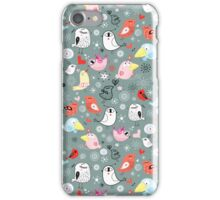 Pattern of funny birds iPhone Case/Skin